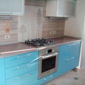 Кухонный гарнитур голубой